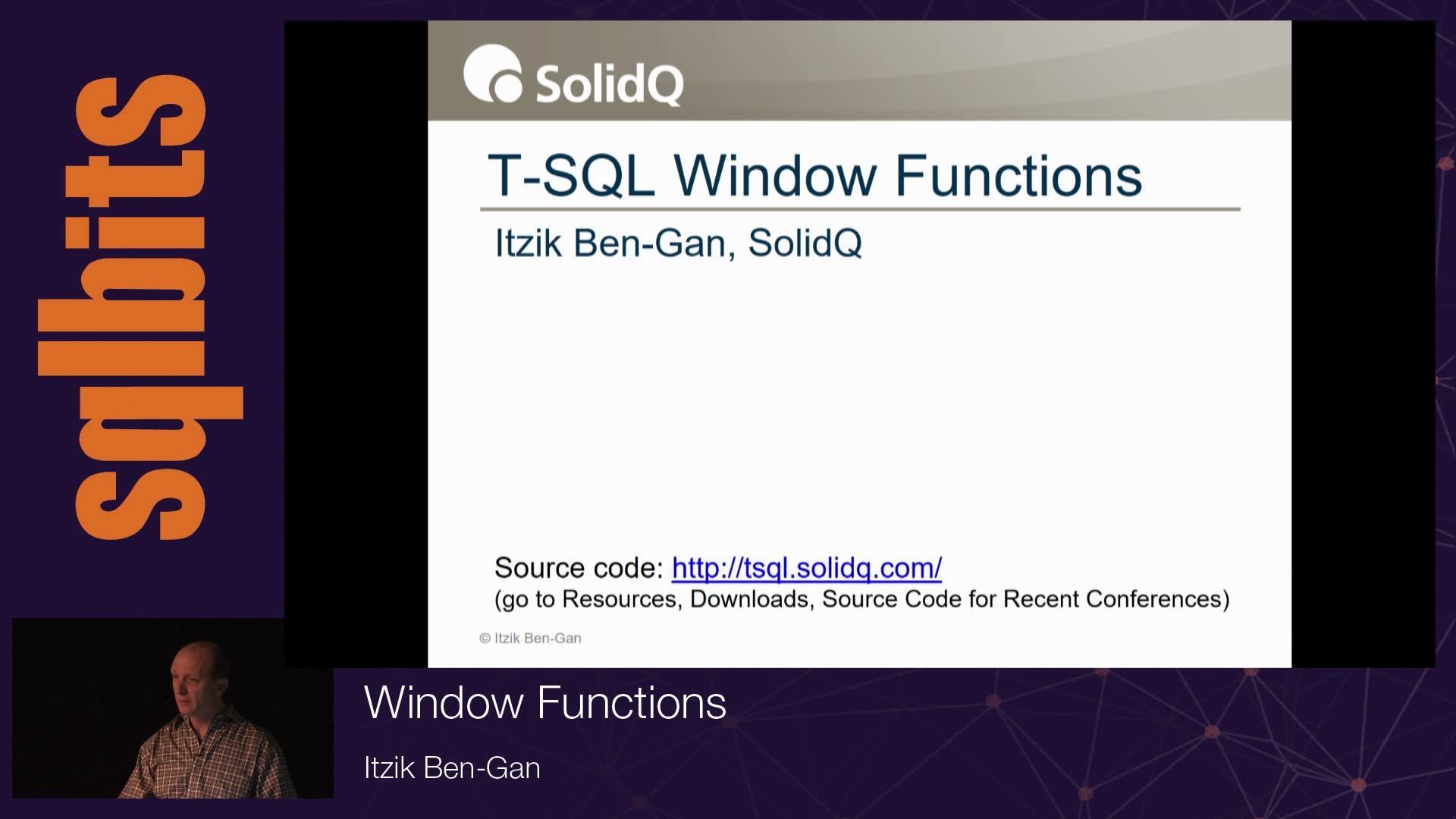 Window Functions with Itzik Ben-Gan